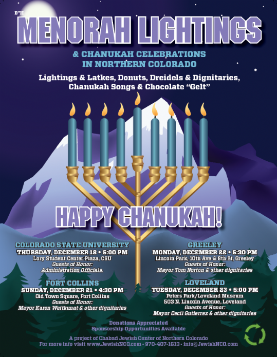 Menorah lighting poster
